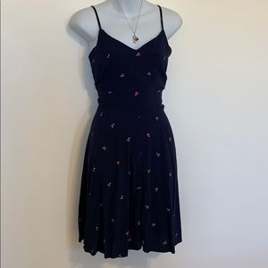 GAP fit and flare cherry dress.